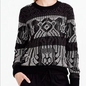 J. Crew Mixed stitch blanket sweater holiday jcrew
